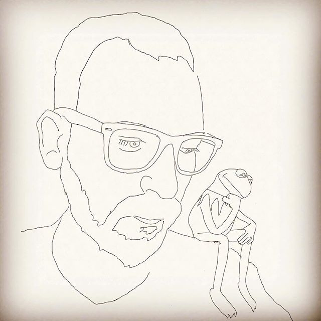 Being Green illustrated by Jeremiah Byerley #kermit #vibing #artistsoninstagram #pictureoftheday #wip #2dartbot #muppets #rayban #meaning #love #thoughtful